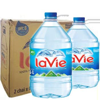 Bình LaVie 6l, nước LaVie 5 lít phục vụ giao nhanh miễn phí tận nơi