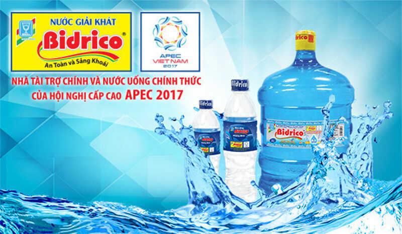 Đại lý nước Bidrico, nước uống đóng bình bidrico miễn phí giao hàng