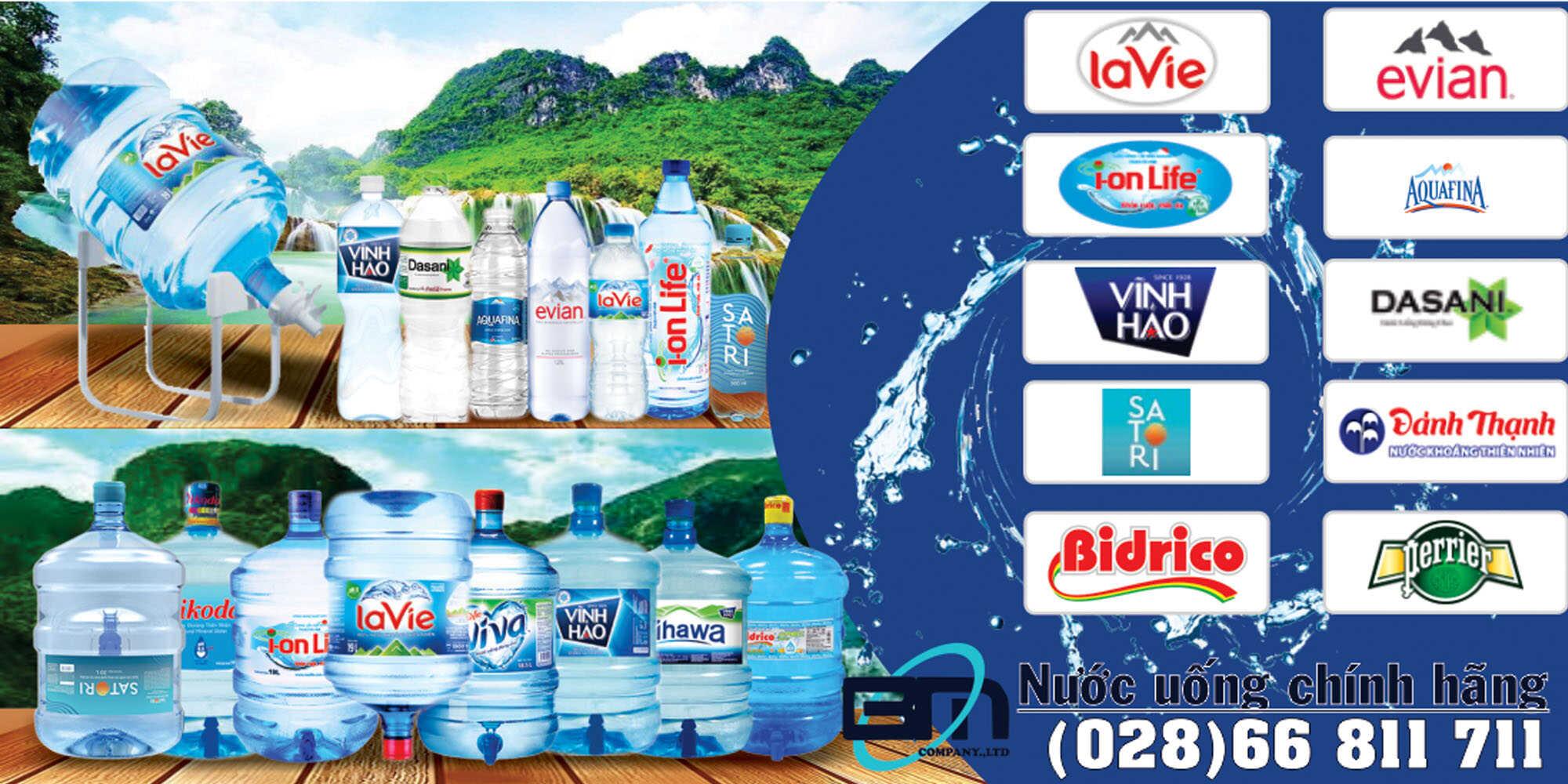 Đại lý nước suối đóng chai nước uống đóng bình
