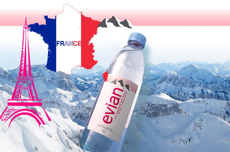 Nước khoáng cao cấp Evian, nước suối Pháp giao hàng nhanh miễn phí