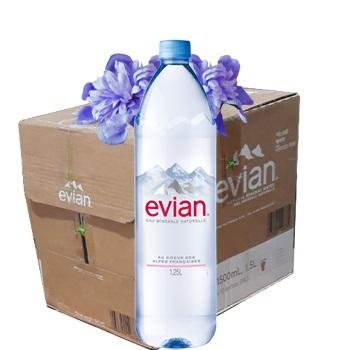Nước khoáng Evian 1.5 l (1500ml Thùng / 12 chai) nhập từ Pháp