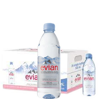 Nước khoáng Evian 500ml của Pháp (24 Chai / Thùng)