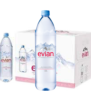 Nước khoáng Evian 1.25 l (1250ml Thùng / 12 chai) nhập từ Pháp