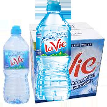 Nước suối LaVie 750ml, LaVie nắp thể thao tiện lợi trong sử dụng