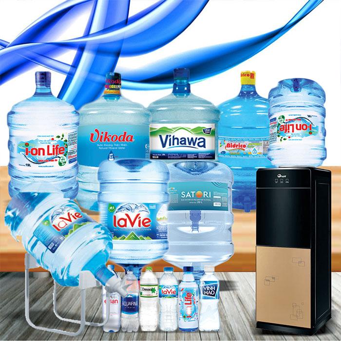 Nước uống đóng bình 20L, gọi nước khoáng, tinh khiết chính hãng